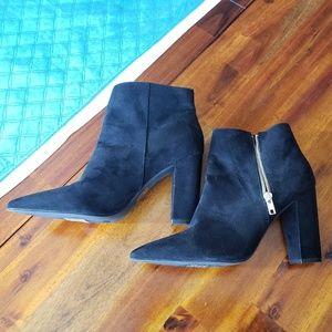 Boot, Faux Suede, Black